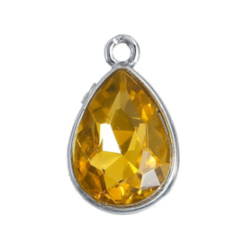 Geboorte steen hanger prachtig kristal facet November Topaz Gold 19x12 mm