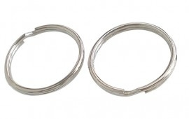 10 x  Sleutelhanger ring 35 x 3mm