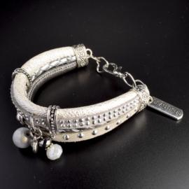 Prachtige armband, verstelbaar met metalen elementen bedel beautiful