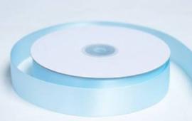 1 meter Luxe satijnlint 25 mm Licht blauw