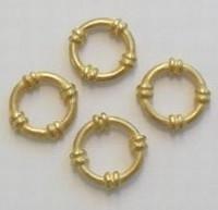 5 stuks mat gouden metalen boeiring  18 mm