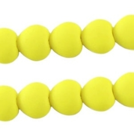 10 stuks Acryl kralen hart 10mm geel