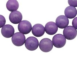10 x  Kraal van  Mashan Jade Purple 6mm
