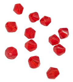 20 x Pesciosa bicone kristal kralen 4 mm gat 1 mm rood