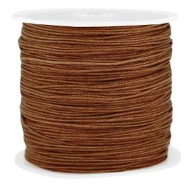 Rol met 90 meter Macramé draad 0.8mm Pecan brown (kies voor pakketpost)