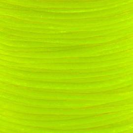 2 meter Macrame Satijndraad 1.0 Neon Yellow