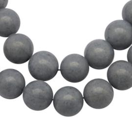 10 x Natural Mashan Jade 6 mm Grijs