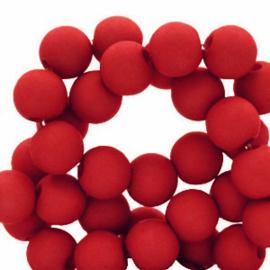 30 x 8 mm acryl kralen Crimson red