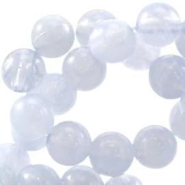 40x Perla beads 6mm Light sapphire blauw