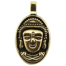 2 x Metaal Bedel Buddha Antiek Goud 32x18 mm