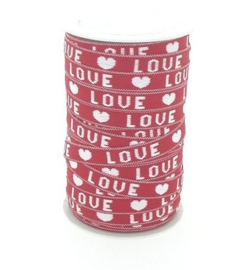 1 meter love lint rood-wit 10mm
