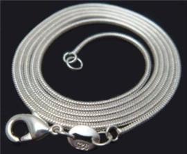 Kettingen verzilverd met  echt sterling zilver