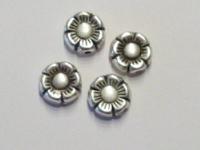 10 x  zilveren acryl margrietje 10 mm