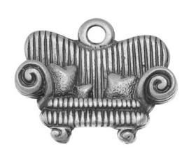 Prachtige Tibetaans zilveren bedeltje van een Sofa 15 x 12 x 3mm Gat: 2mm