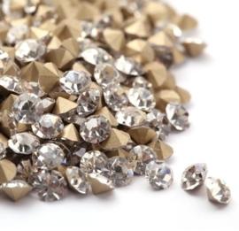 10 stuks Puntsteen Preciosa voor puntsteen 9924 c.a. 3mm Crystal