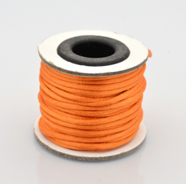 Rol met 10 meter  satijn koord Nylon Marcramé koord 2mm kleur Orange