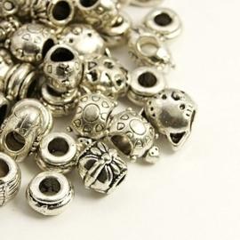 5 stuks Tibetaans zilveren European Jewelry bedels (gemixt)