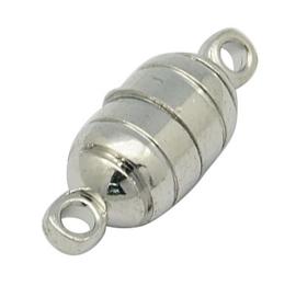 Magneet sluiting 5,5 x 15mm, Oogje 1,3mm