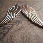 Prachtige hanger van een vleugel 50 x 16 x 1,5mm Gat 1,5mm