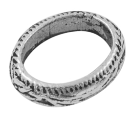 5 x Gesloten metalen  ovale ring  13,5 x 11 x 3mm gat: 10,5 x 8mm