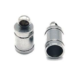 10 x RVS Eindkapje Stainless Steel 10x5 mm Ø 3.5 mm