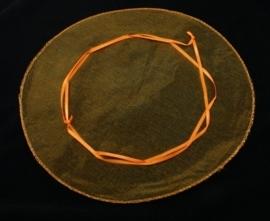 10 x ronde organza zakje oranje effen, Ø 26 cm  (op is op!)