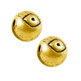 5x DQ metalen kraal oog 6 mm Antiek Goud