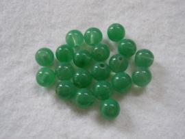 20 stuks  groene glaskraal van 10 mm gat: 2 mm