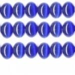 10 stuks prachtige cateye kralen 8mm  blauw
