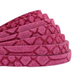 Per 20 cm Plat 5mm DQ leer Reptile Fuchsia pink
