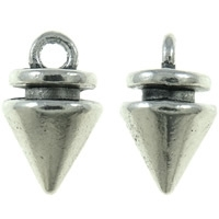 Tibetaans zilveren bedeltje van een spike 7,5 x 12,5mm gat ca 1,5mm