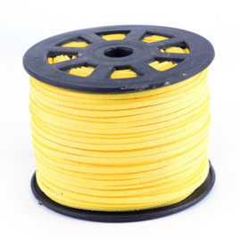 Faux suède veter,  yellow , 1 meter x 3mm.
