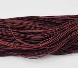 8 meter rond elastisch koord van rubber voorzien van een laagje stof 1mm bruin