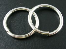 20 stuks jump ringen Ø 12mm zilver 1mm dik