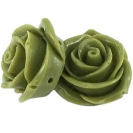 2 x Roos 2 rijggaten 23 mm Olijf groen grijsverdeler