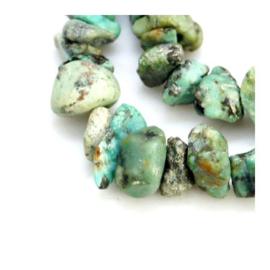 20 x Natuursteen Turquoise Chips Kralen