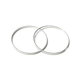 3x Basis metalen ring 25x1 mm Zilver Ø 23 mm