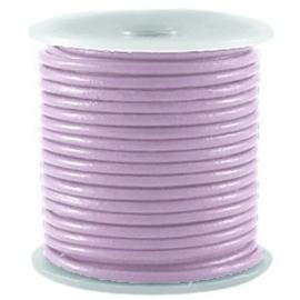 50 cm DQ Leer rond 2 mm Dawn purple grey