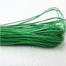 10 meter waxkoord 1,5mm dik kleur:  Groen