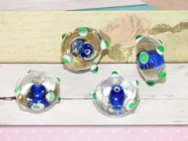 5 x High Quality Glass Hand Made Bead 088 afm. ca. 11  x 18mm