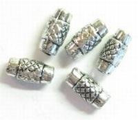 20 stuks antiek zilveren metallook tussenzetsel kraal buisje bewerkt 10,5 x 5mm