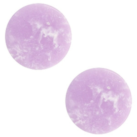 1 x Cabochon basic plat stone look 20mm Lavender purple