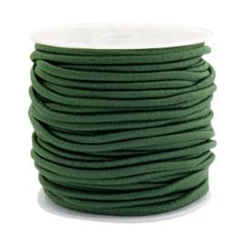 1 meter Gekleurd elastisch draad 2.5mm Dark green