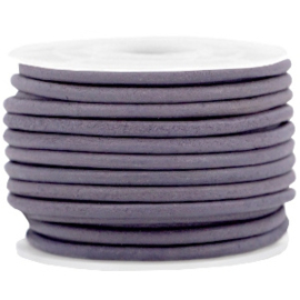 50cm DQ leer rond 3 mm Royal purple - vintage finish