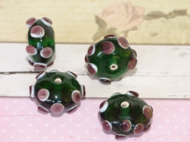 5 x High Quality Glass Hand Made Bead 046 afm. ca.  20 x 11mm