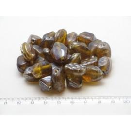 100 gram luxe glaskralenmix in diverse tintenmix 08
