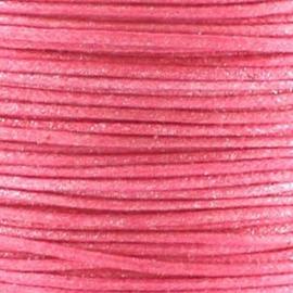 2 meter Waxkoord 1.0 mm Bubble Gum Metallic