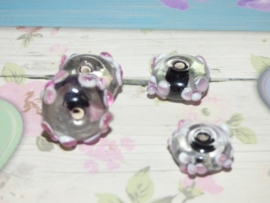 5 x High Quality Glass Hand Made Bead 122 afm. ca. 11 x 18mm