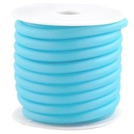 20cm hol Rubber DQ koord 5 mm Licht blauw