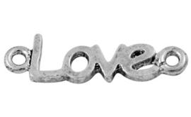 """Prachtige tussenzetsel """"Love"""" 24 x 7 x 2mm Gat: 1,5mm(59 en kastje 6)"""